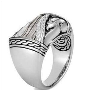 John Hardy Mens Silver Ring Size 10 NWT $1200